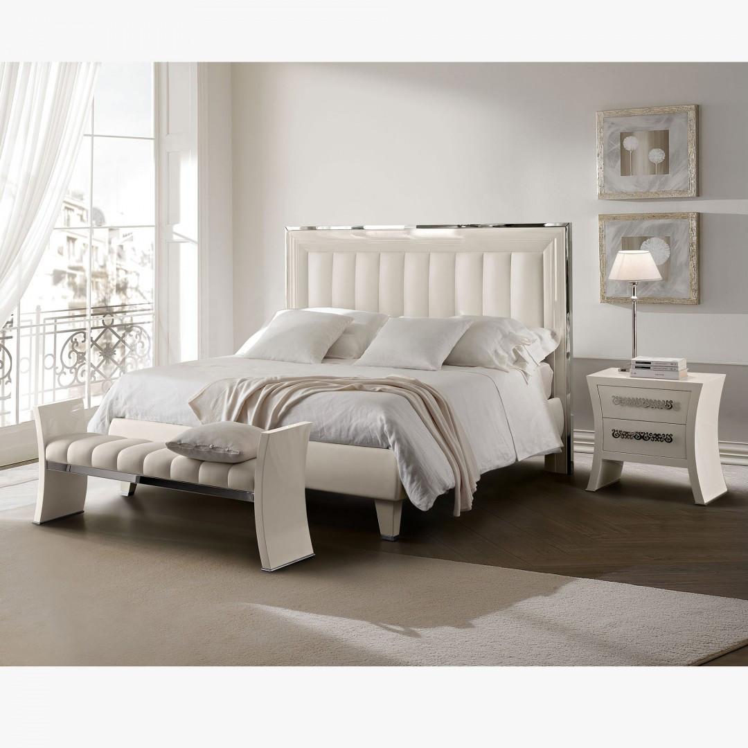 glam bedroom set white silver
