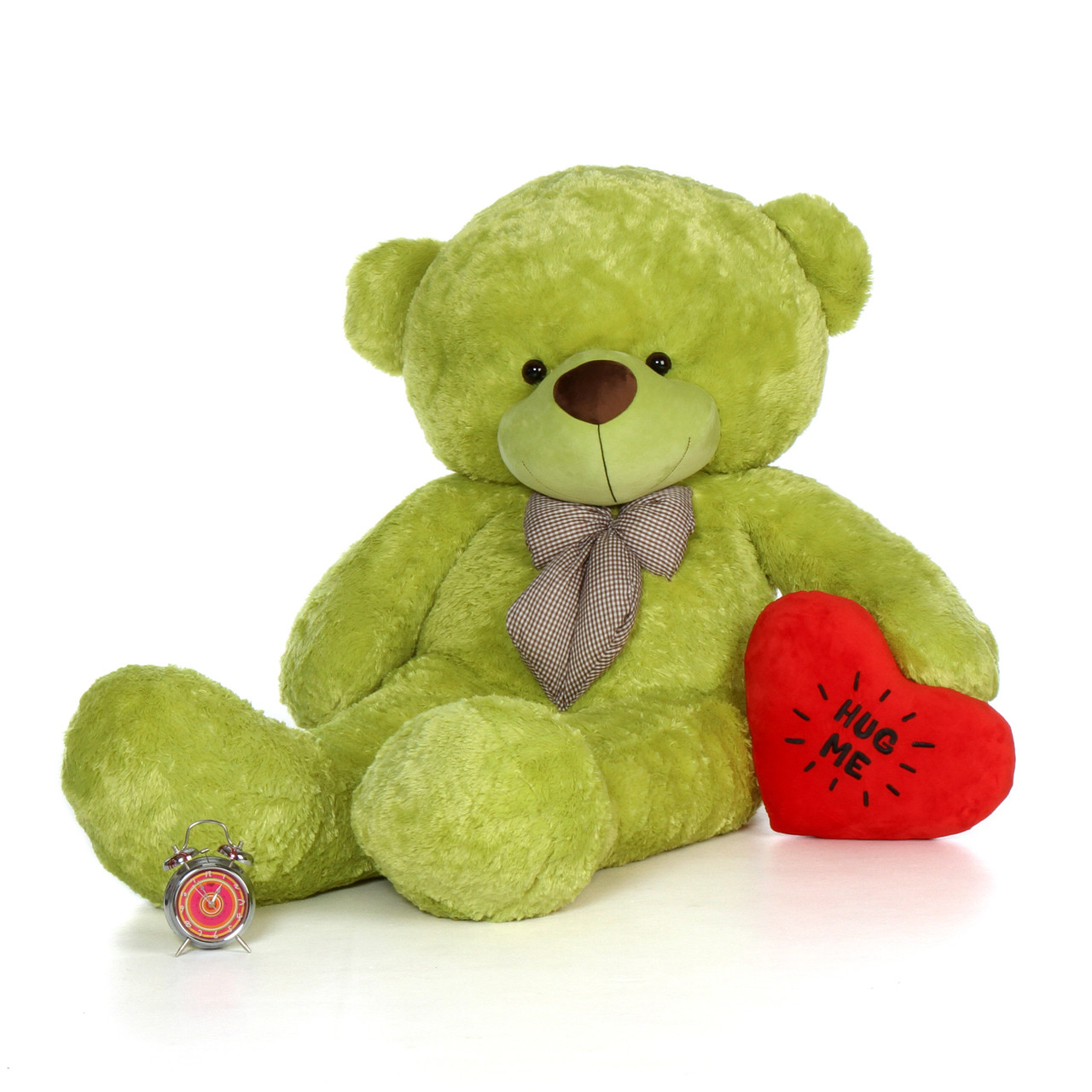 72in Giant Life Size Valentines Day Green Teddy Bear With