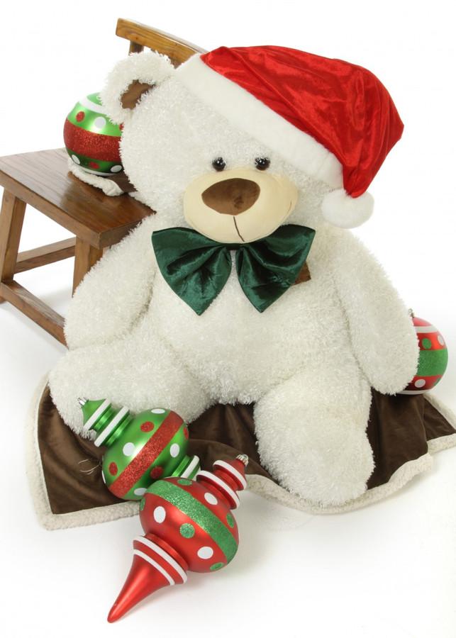 Celebrate A White Teddy Bear Christmas With Big Frosty