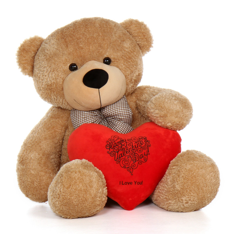 48in Happy Valentines Day I Love You Teddy Bear Amber