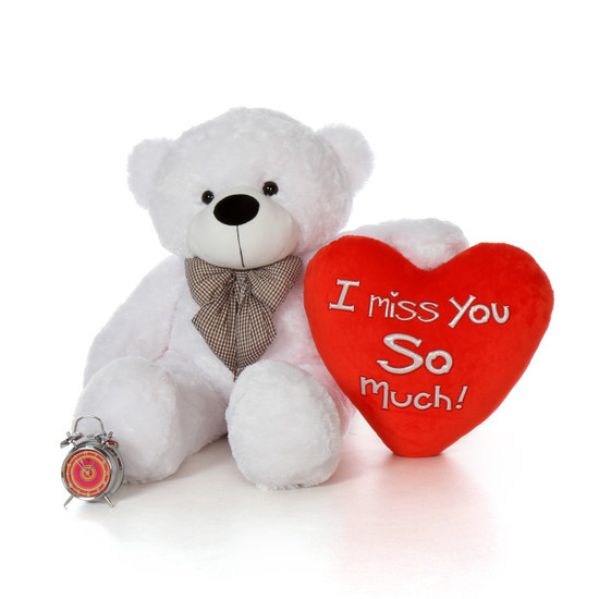 48in Big Valentines Day Teddy Bear With Beautiful I Miss