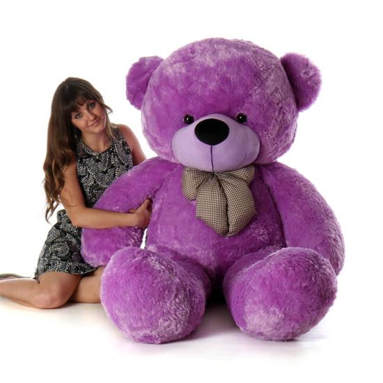 Deedee Cuddles 65 Lilac Plush Life Size Teddy Bear