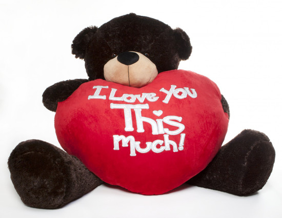Brownie Cuddles Valentines Day Teddy Bear With Heart