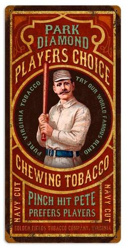 Vintage Park Diamond Tobacco Metal Sign