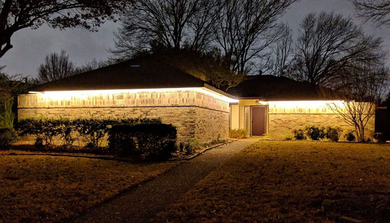 outdoor soffit lighting with led strip