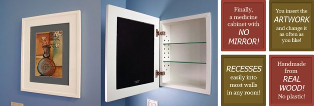 recessed medicine cabinets with picture frame doors | mirrorless