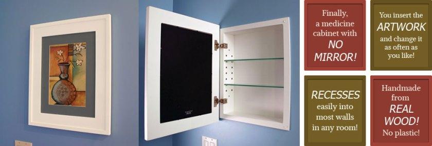 Beautiful Recessed Medicine Cabinet No Mirror