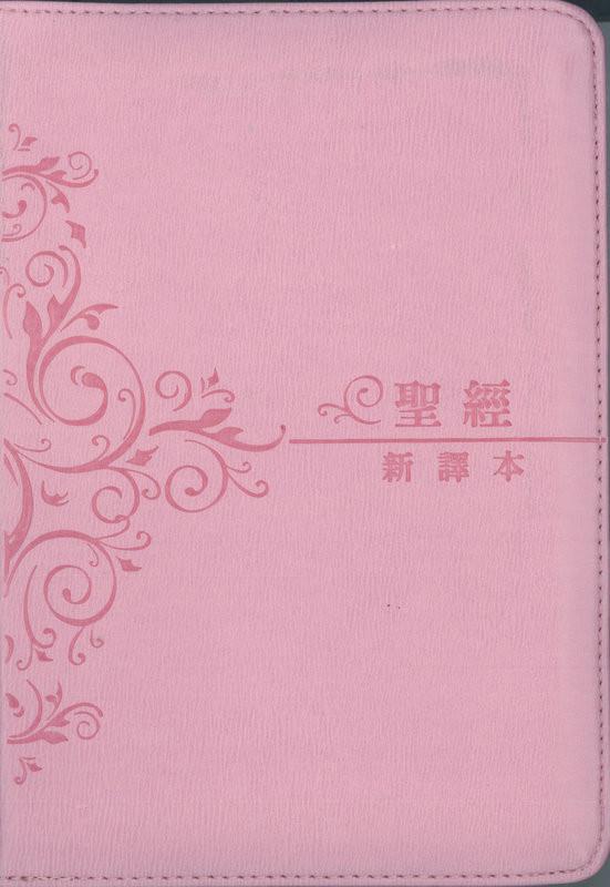 C12TS15S-I 新譯本 輕便裝繁體 粉色皮面銀邊拉鏈 - Worldwide Bible Society USA