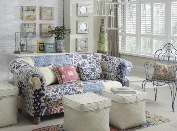Zin home patchwork sofa
