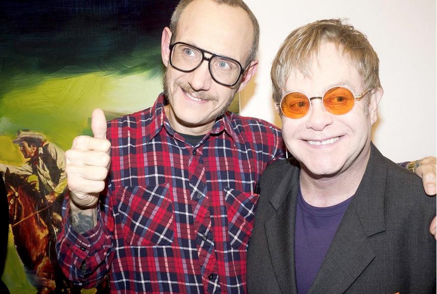 Elton John Wearing MYKITA PHOEBE Eyeglasses