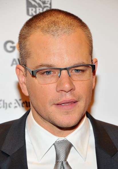 Matt Damon Wearing Bevel Chin Chin Eyeglasses