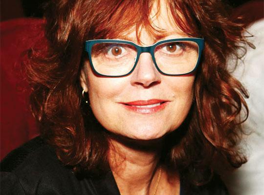 Susan Sarandon Wearing Bevel Outback Eyeglasses