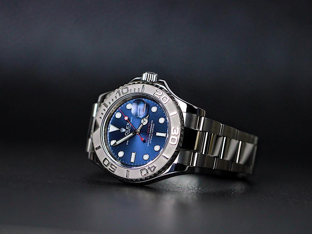 Rolex Watch Yacht Master 40 Steel Platinum Blue Dial 116622