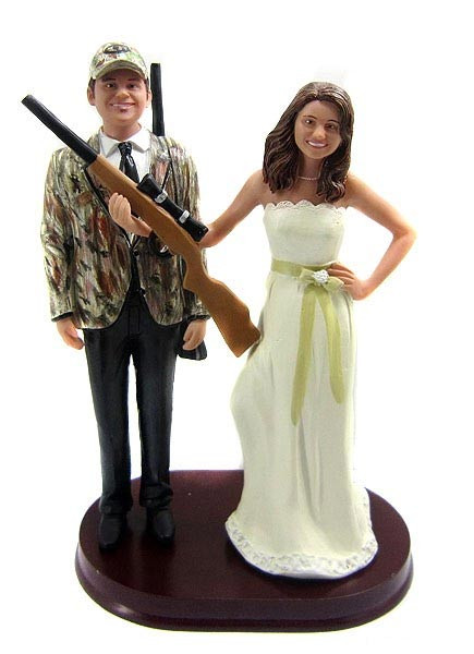 Hunting Wedding Cake Toppers