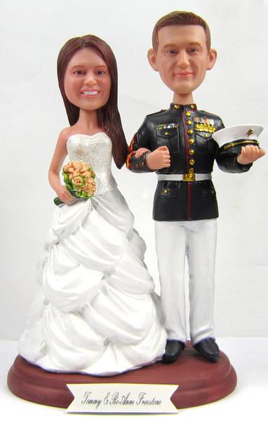 Marine Corps Office Wedding Cake Topper