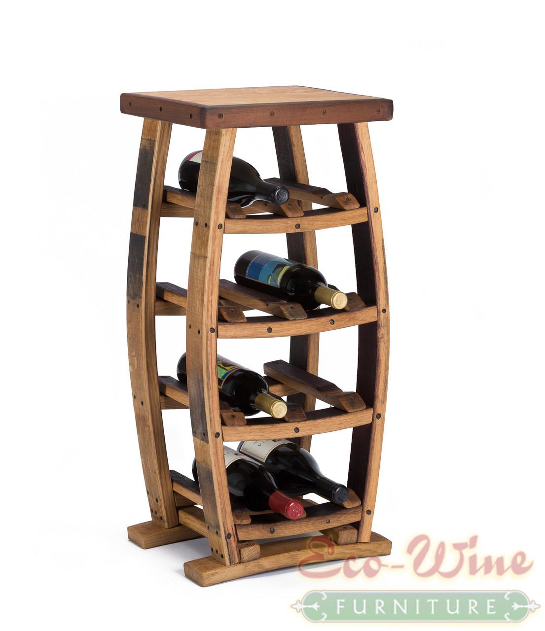 wine barrel wine rack 8 bottles