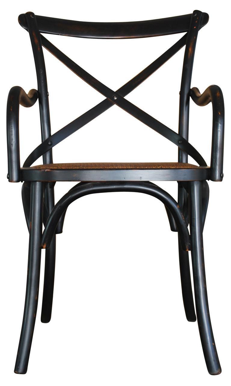 Black Carver Crossback Chair