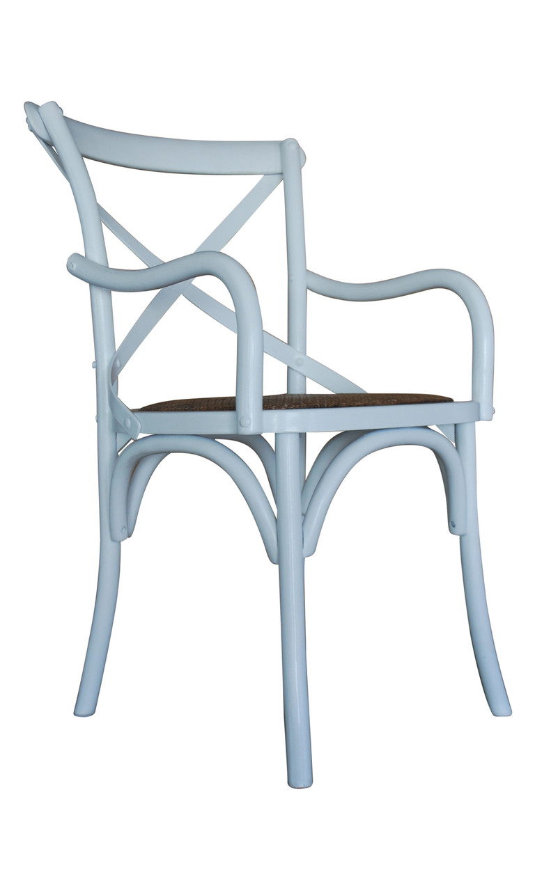 White Carver Crossback Chair