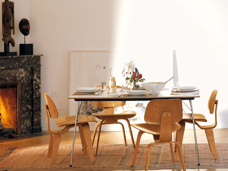 Charles and Ray Eames DCW Dining Setting
