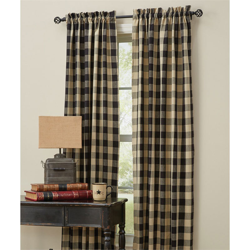 Wicklow Black Check Curtain Panel Set By Park Designs