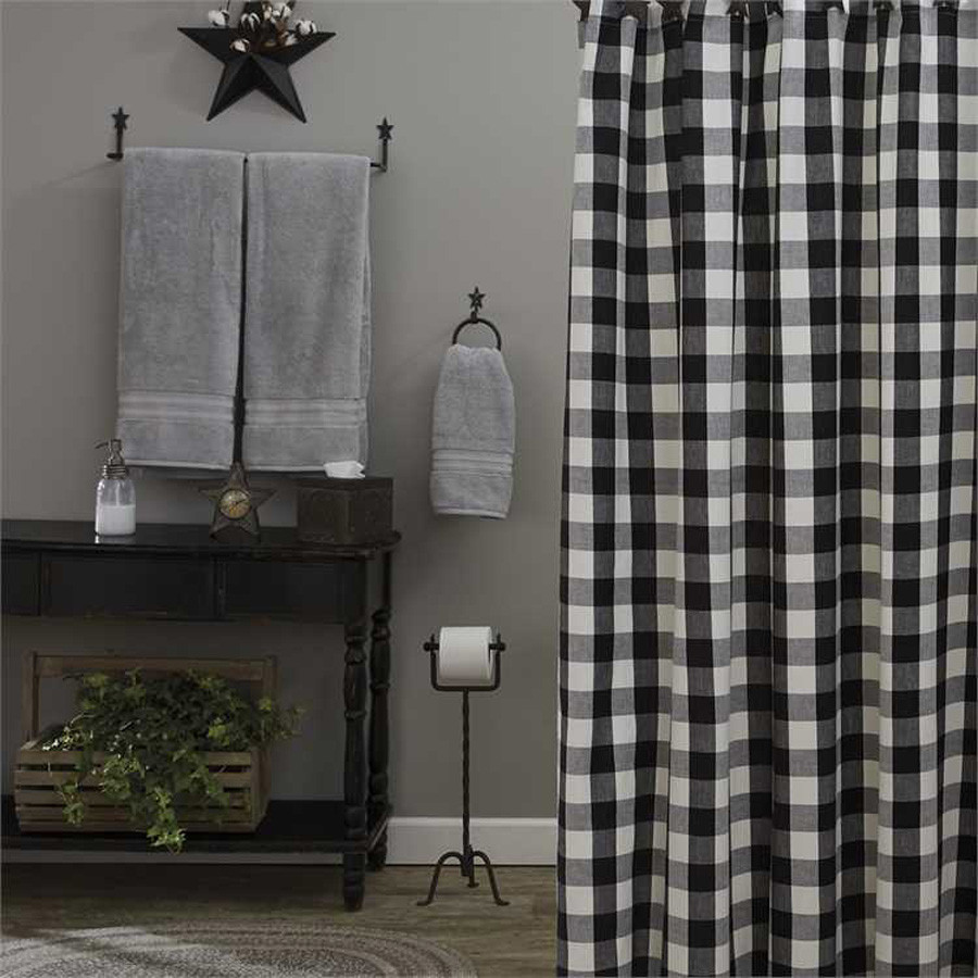 wicklow shower curtain black and cream