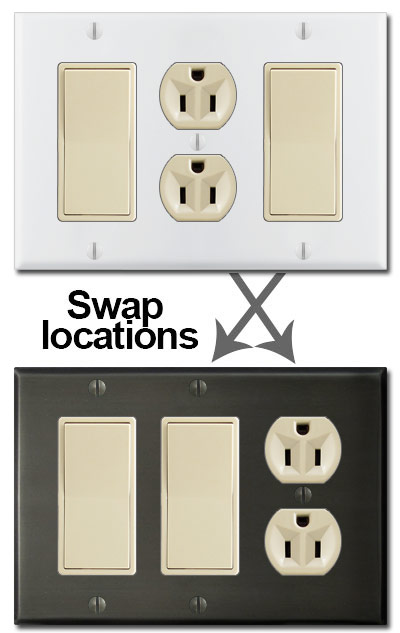 switch plates in hard to find sizes