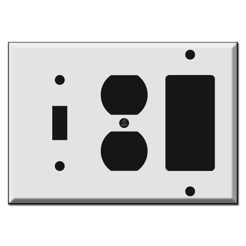 Odd configuration switch plates from Kyle Design