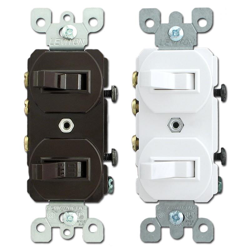 Black Toggle Duplex Switch