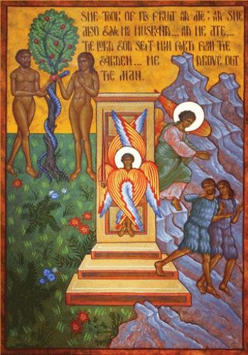 Image result for expulsion adam icon orthodox