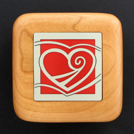 Custom heart engagement ring box