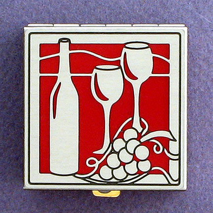 Red Wine Pill Box from Kyle Design