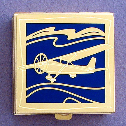 Biplane Gifts - Gold Pill Box