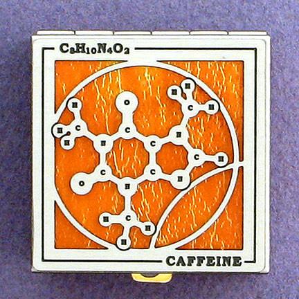 Custom Caffeine Pill Box from Kyle Design