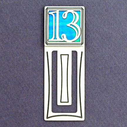 Engraved Bookmark with Thirteen