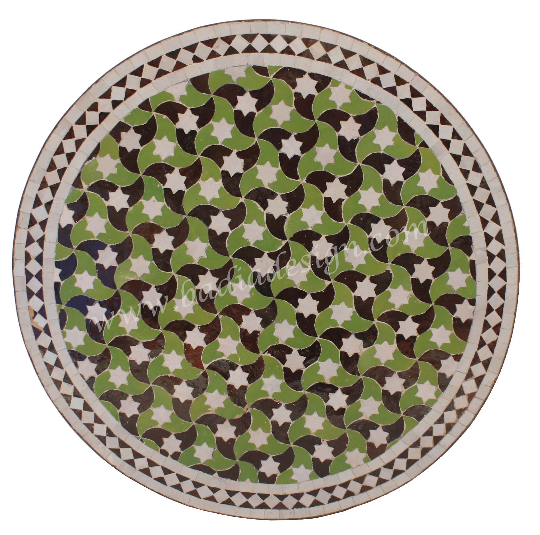 moroccan outdoor tile coffee table top from badia design inc