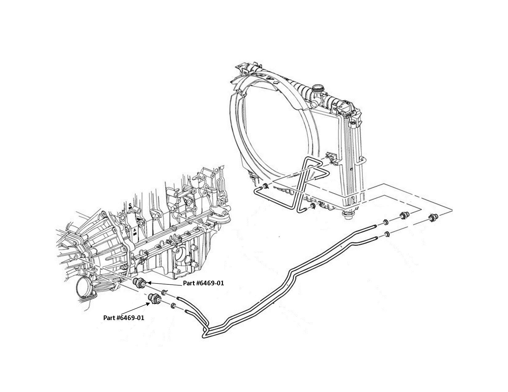 Chevy Trailblazer 4 2l Transmission Cooler Lines