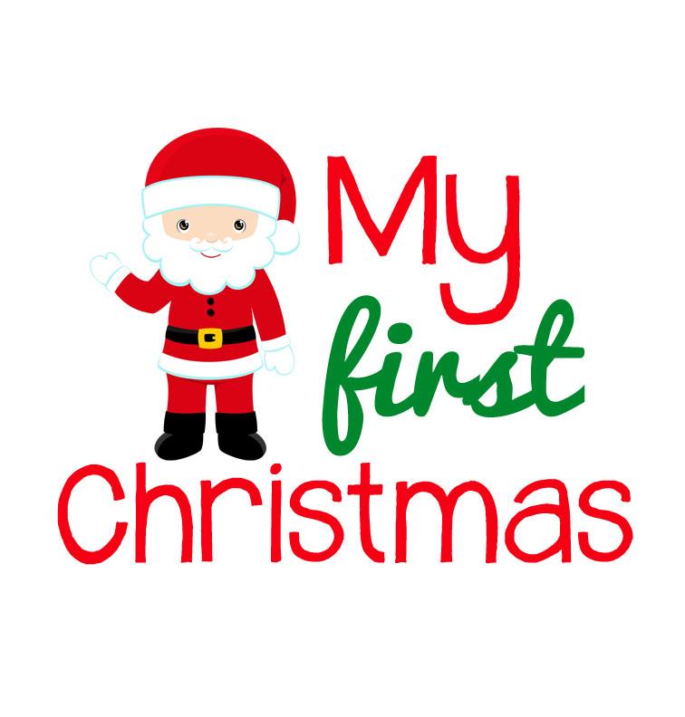 My First Christmas Santa Onesie Custom Made Baby
