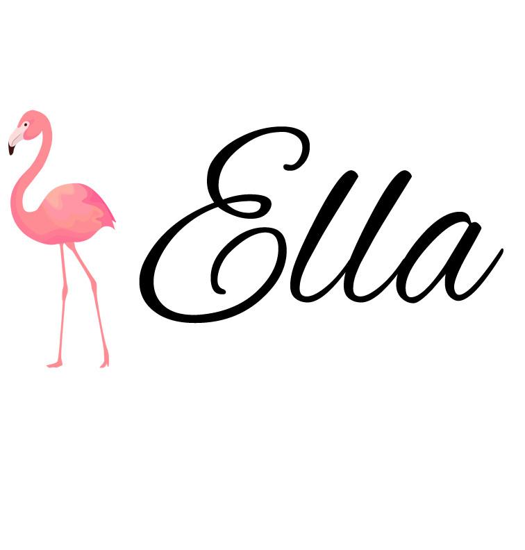 Pink Flamingo Baby Name Onesie Personalised Baby