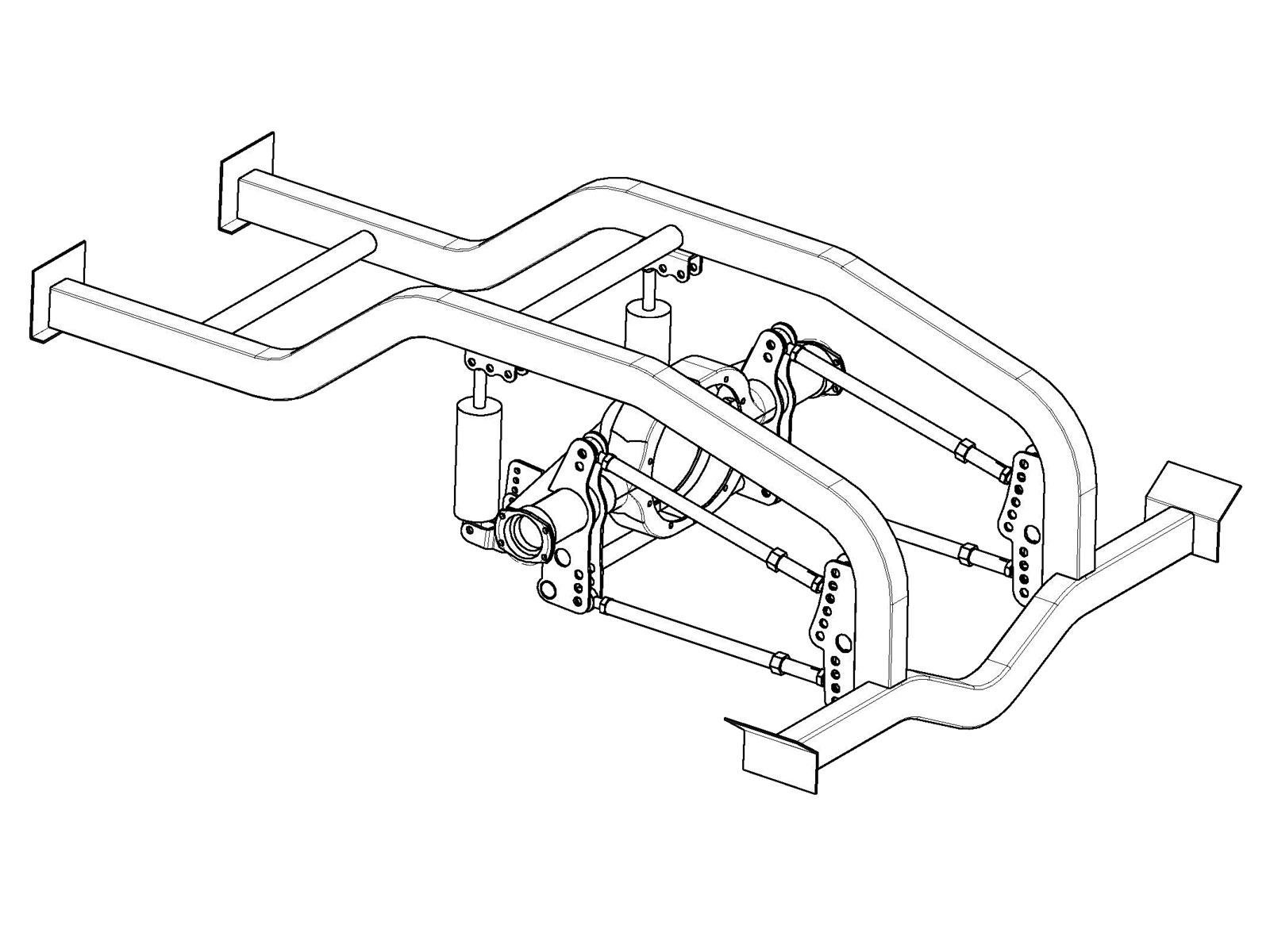 4 Link Pro Mod Suspension Kit Fits Dana Also 1 25