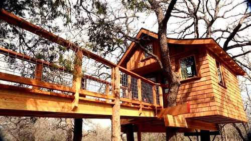 This Austin, TX treehouse designed by Nelson's team has a spa inside.