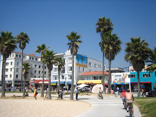 The Venice boardwalk. Source: Wikipedia Commons