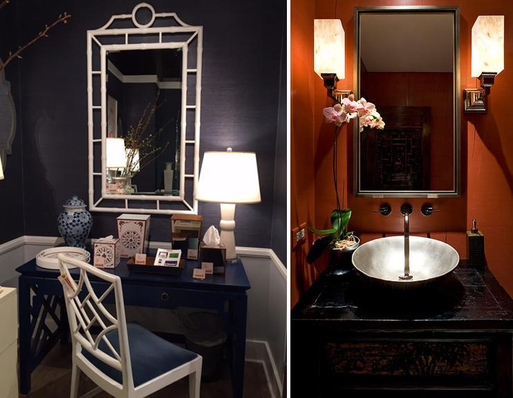 À esquerda: a mundos de distância Showroom, foto por Kerrie Kelly Design Lab.  Direita: Deb Reinhart
