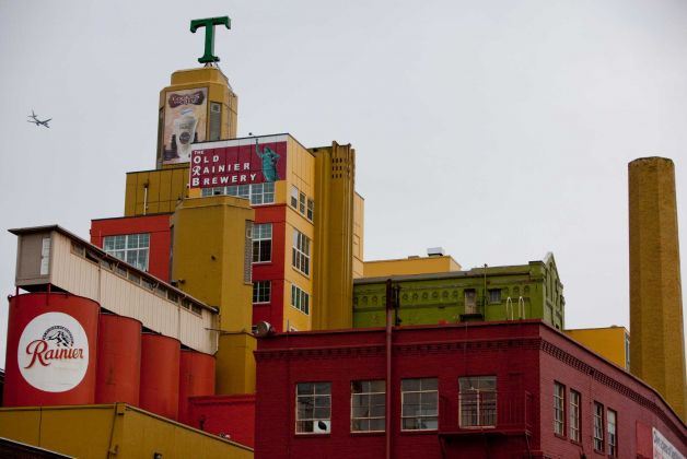 The Rainier Brewery in Seattle is now home to artists looking for industrial space to live and work. Source: Seattle PI