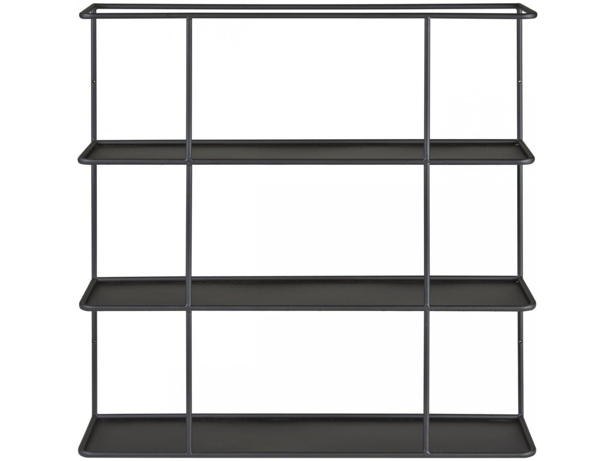 etagere verone avec tablette en metal noir