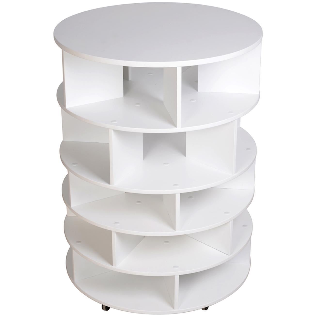 meuble a chaussure rotatif en bois may blanc bobochic