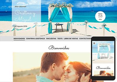 Resultado de imagen para web de boda en la playa