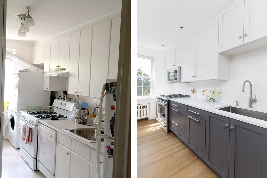 Before And After: A Galley Kitchen Gets The Modern