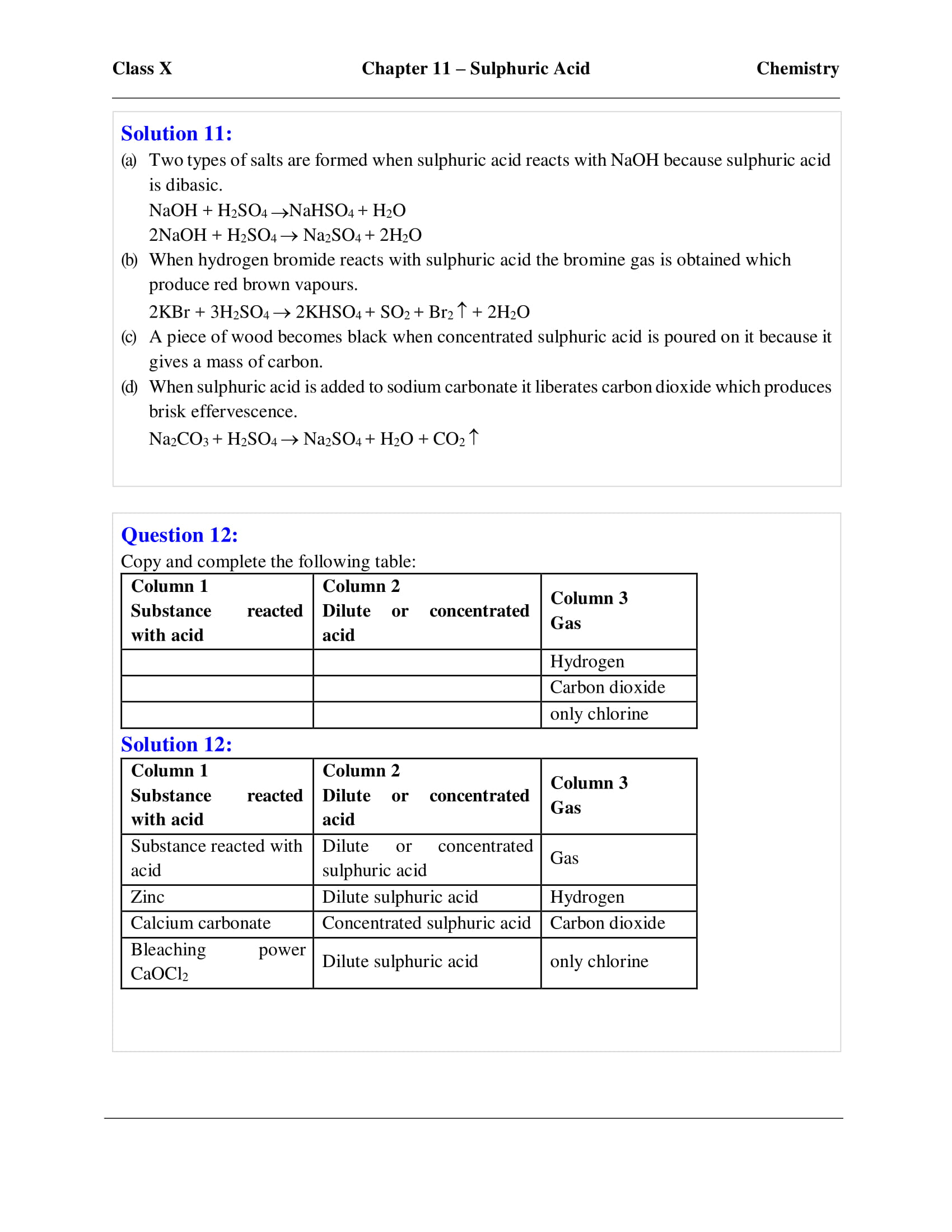 Selina Solutions Class 10 Concise Chemistry Chapter 11
