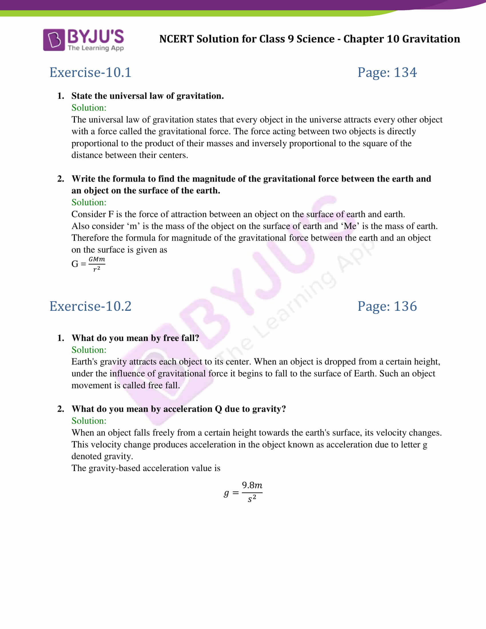 Law Of Universal Gravitation Worksheet 8 2