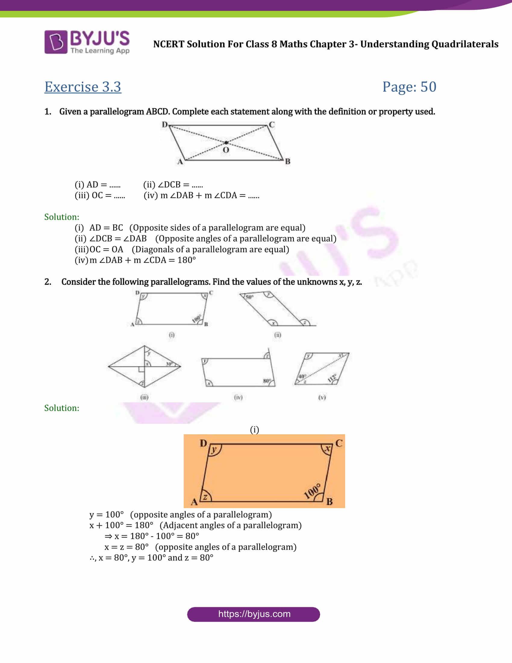 Ncert Solutions Class 8 Maths Chapter 3 Understanding